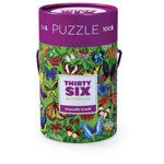 Puzzle 100el., motyw motyle, Crocodile Creek