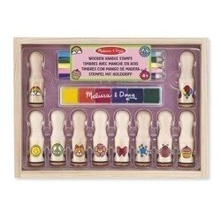 Melissa and Doug, Drewniane Stempelki Deluxe, MD12306